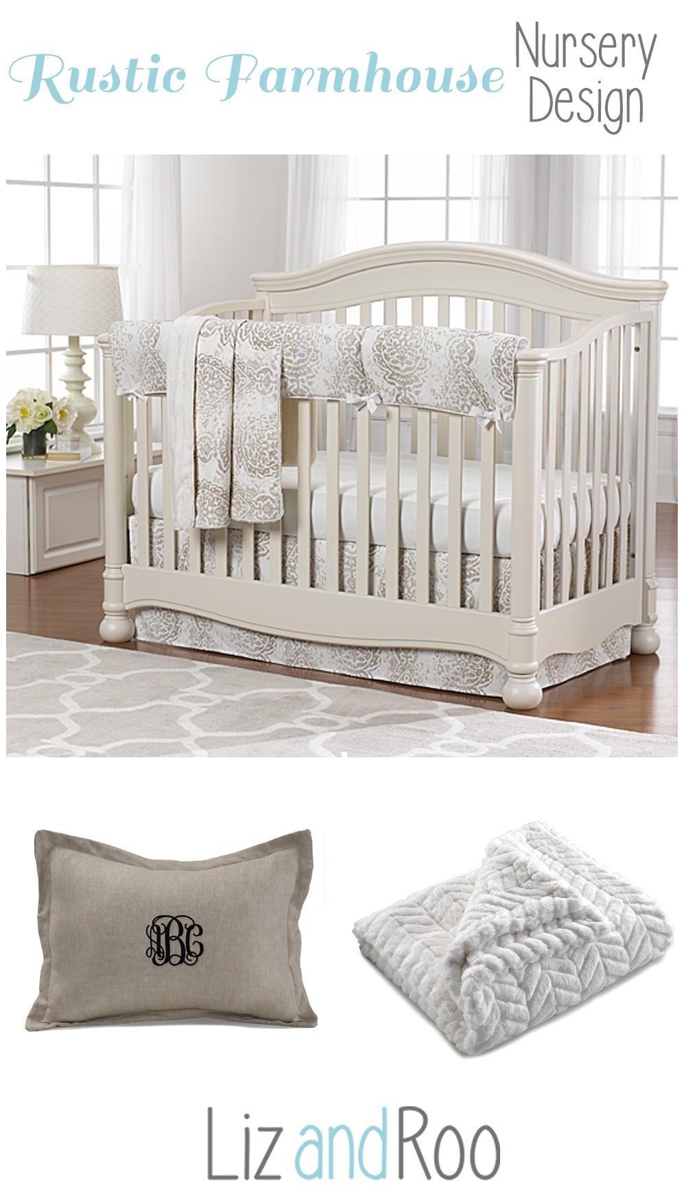 Tristan Taupe Bumperless Crib Bedding Bumperless Crib Bedding