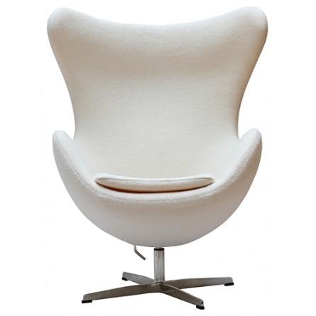 Arne Jacobsen Egg Chair Replica White Wool in 2020 Egg
