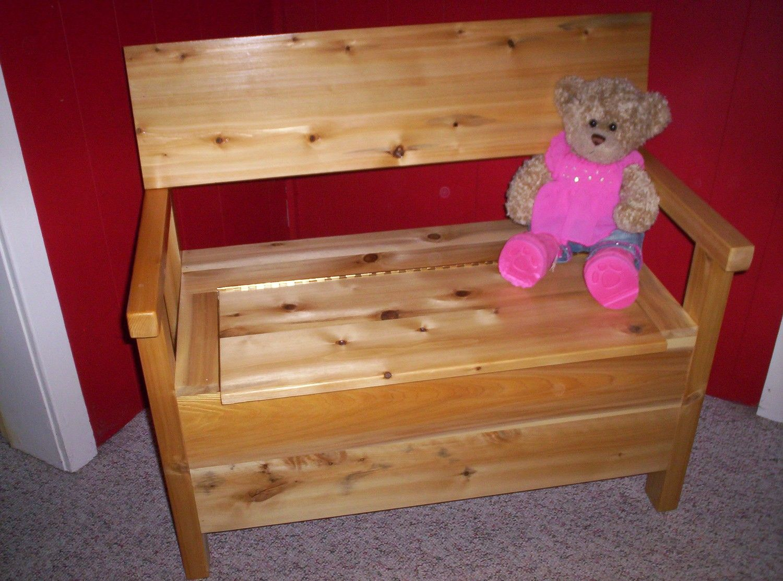 Cedar Toy Box Bench by Kingoftheforest on Etsy Wood toy
