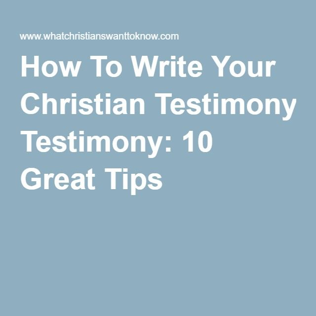 how to write your testimony for youth