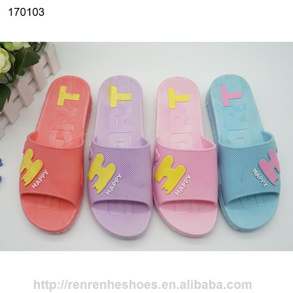 06f1e845b030 pvc women lady flat high heel slippers for from China plastic slipper  wholesale