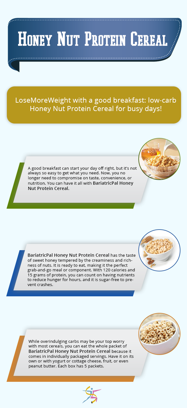 Bariatricpal protein cereal honey nut cereal honey and low carb bariatricpal protein cereal honey nut ccuart Image collections