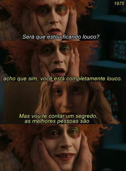 Alice Através Do Espelho Frases