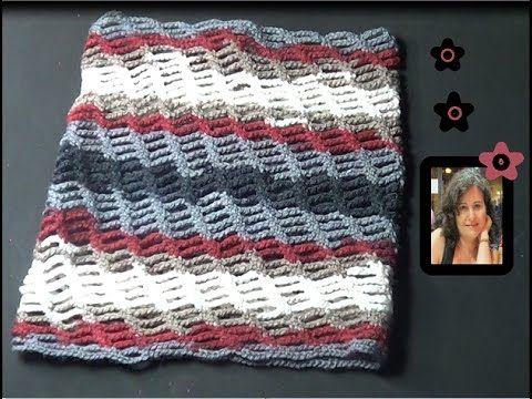 Circular bufanda infinita crochet - YouTube | Bufandas y cuellos de ...