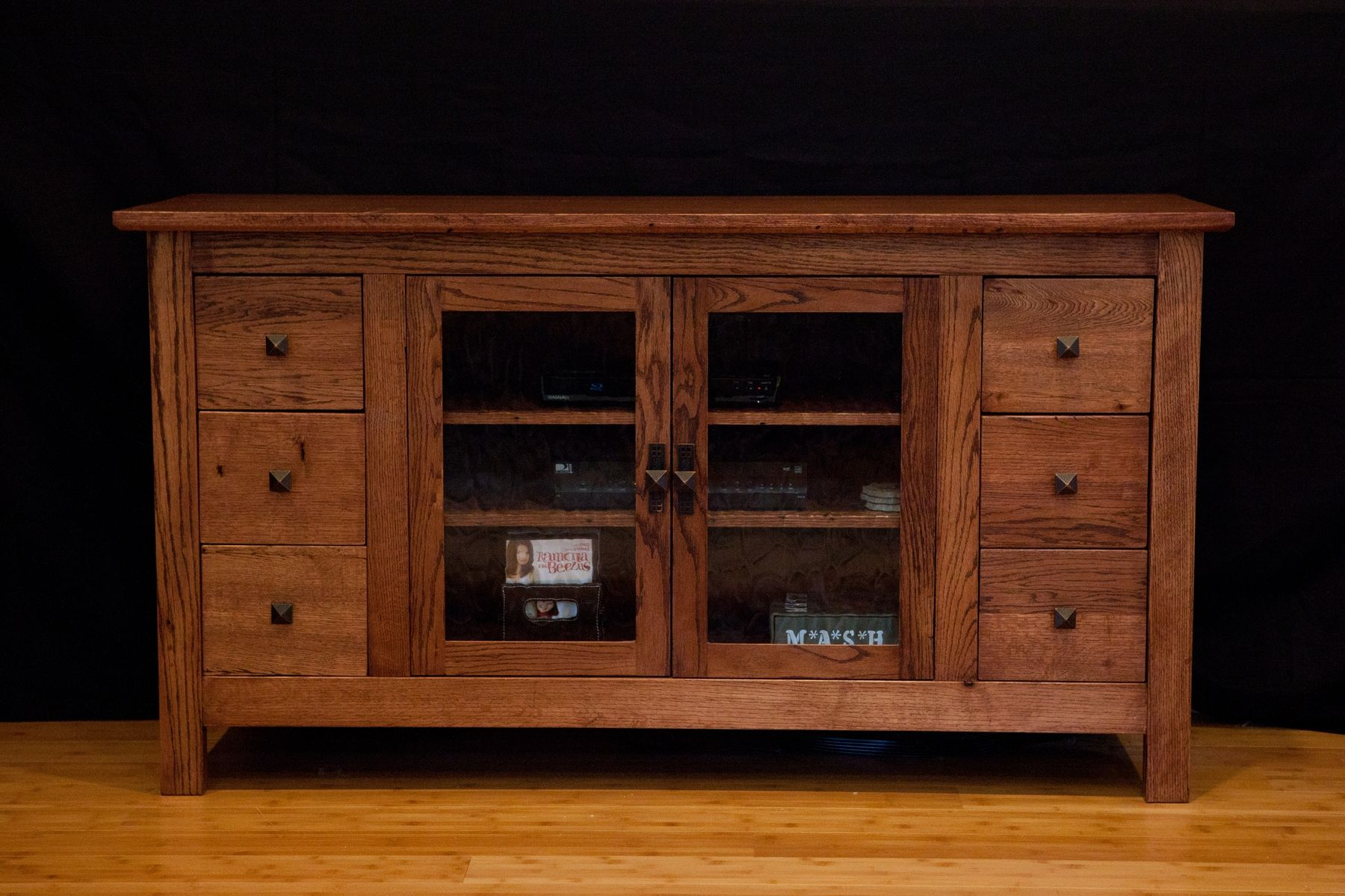 Custom Made Tv Cabinet From Reclaimed Oak Made In Florida
