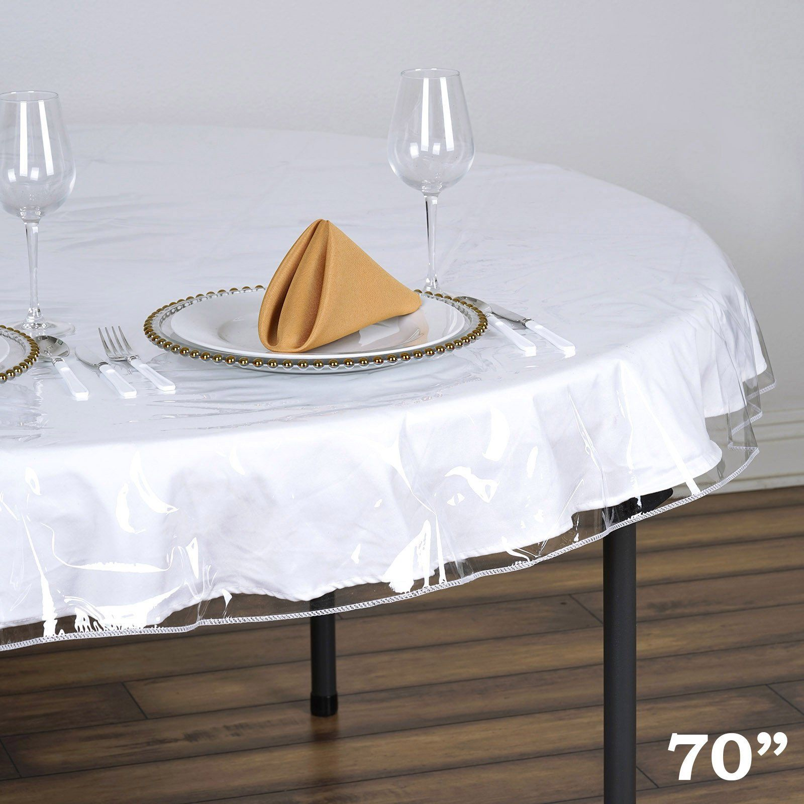 70 Clear 10 Mil Thick Eco Friendly Vinyl Waterproof Tablecloth Pvc Round Disposable Tablecloth Vinyl Tablecloth Table Cloth Waterproof Tablecloth