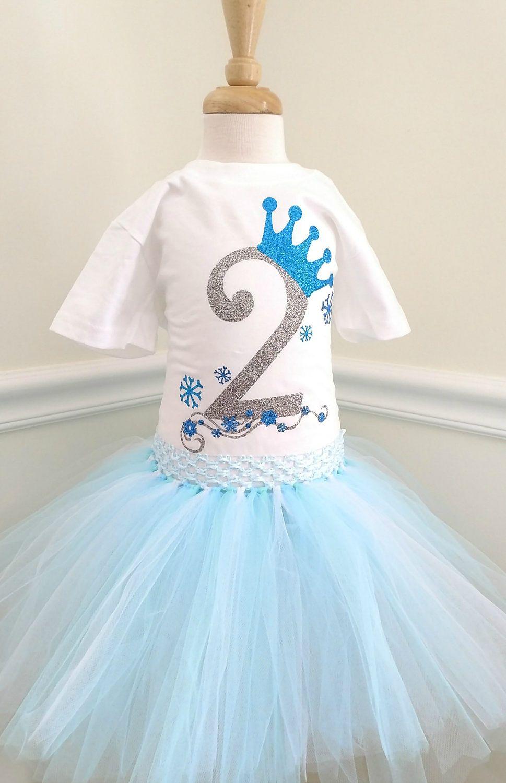 Frozen Elsa Birthday Girl Outfit Birthday Set Birthday