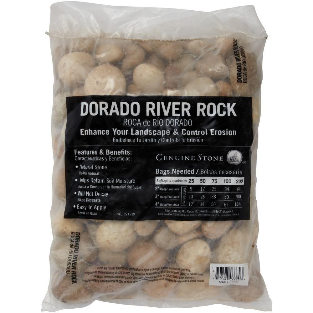 Msi 05 cu ftdorado beach river rock approx 40 lbs bag