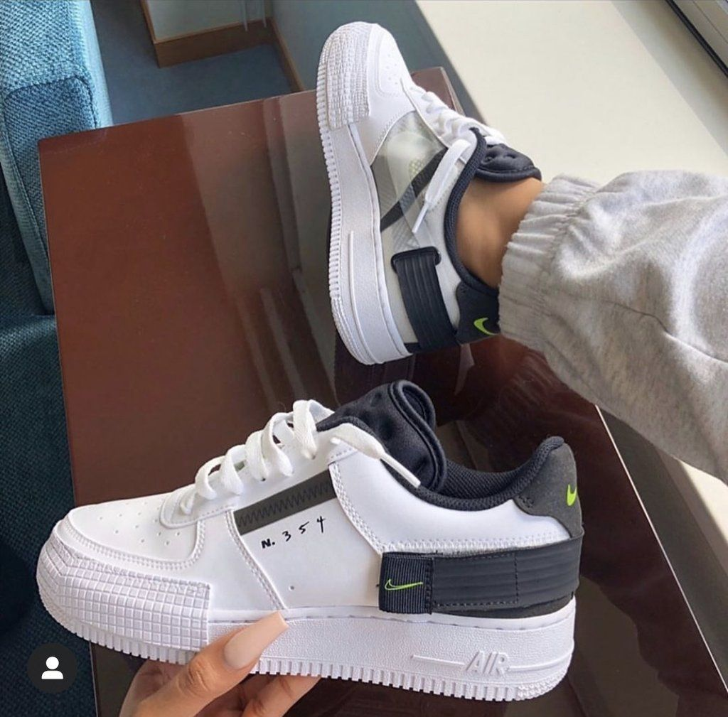 Nike air force 1 see through white black in 2020 | Sneakers