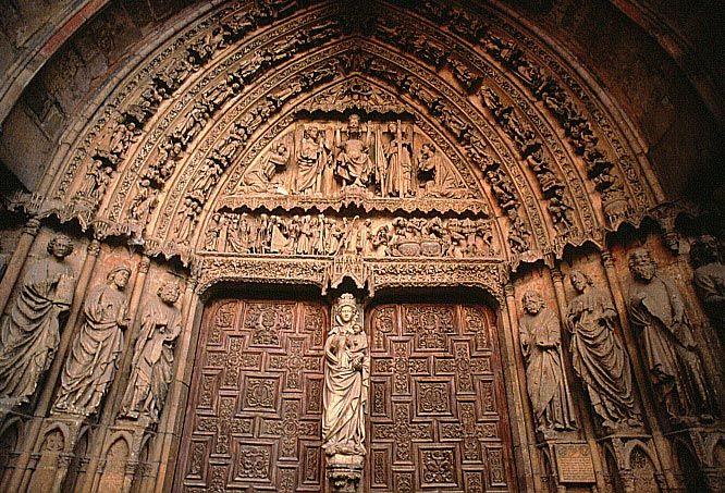 Resultado de imagen de Puerta de la Virgen Blanca Catedral de León