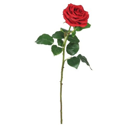 Artificial Pk 3 Real Touch Rose 26 Red Vickerman Rose Stem Hybrid Tea Roses Red Roses