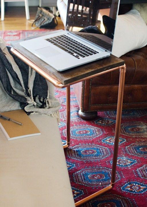 DIY Copper Laptop Table - House of Jade Interiors Blog