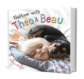 Cute Cuddly Book Of Photos With Brief Text Toddler Beau Naps - Toddler naps with puppy