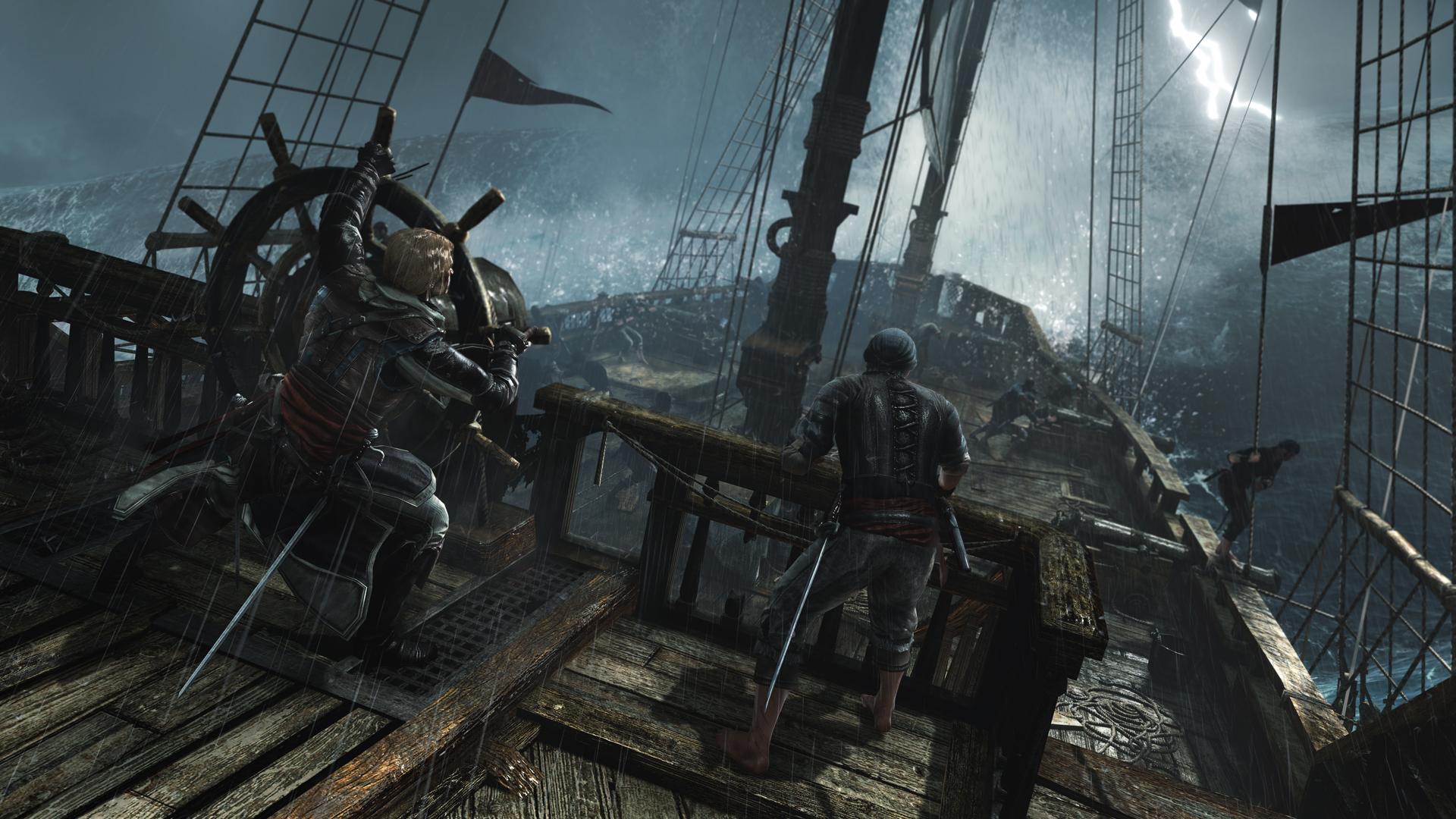 Group of Assassin S Creed 4 Black Flag Ship Combat Wallpaper