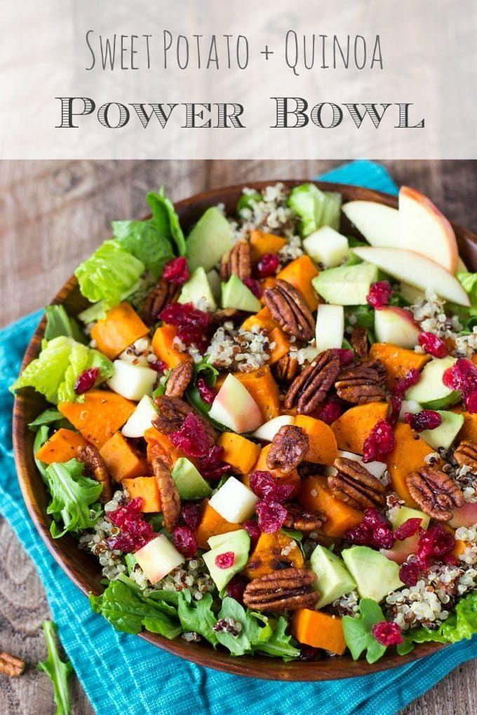 Harvest Sweet Potato + Quinoa Power Bowl {with Maple Dijon Vinaigrette} | Simple Healthy Kitchen
