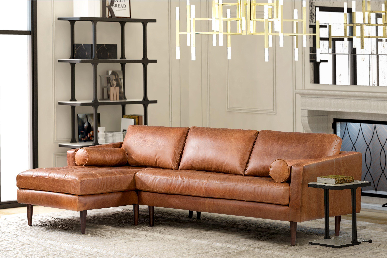 Napa Left Facing Sectional Sofa Genuine Leather Sofa Sectional Sofa Leather Sectional