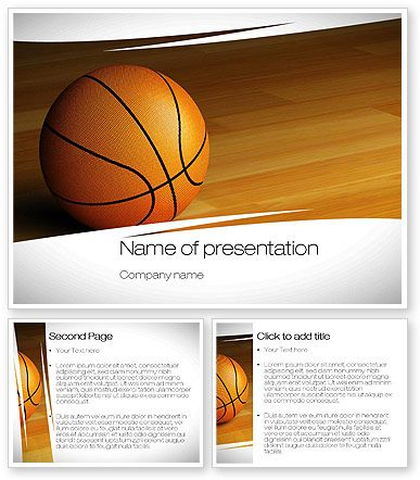 Nice Basketball Picture On Powerpoint Template