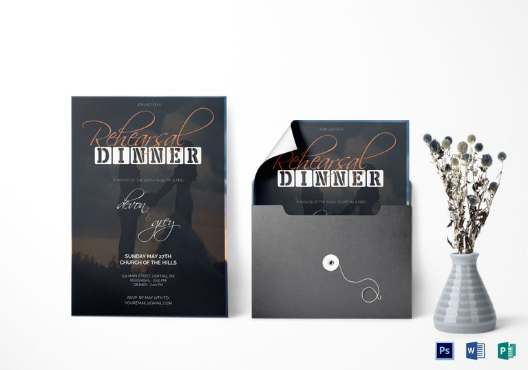 Wedding Dinner Invitation Card Template Wedding Invitation Designs