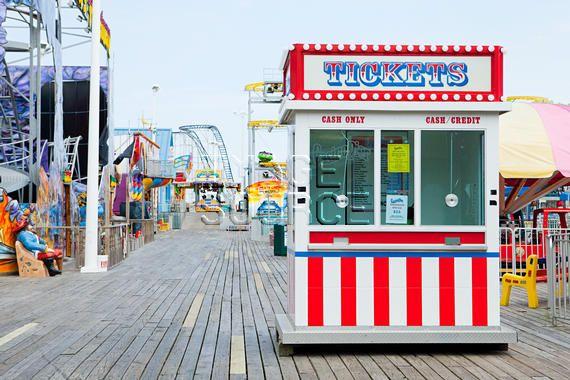 Is098u5jf Boardwalk Theme Ticket Booth