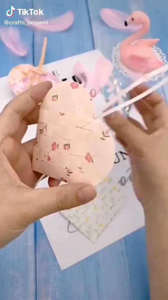 Photo of Origami video. Love bag. . .
