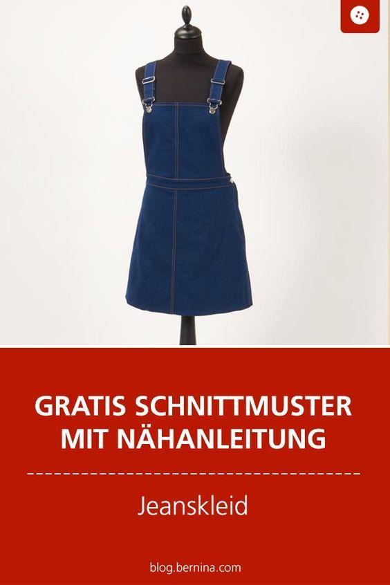 Nähanleitung und Schnittmuster für ein Jeanskleid #gratisschnittmuster