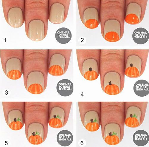 20 Easy Step By Step Halloween Nail Art Tutorials For ...