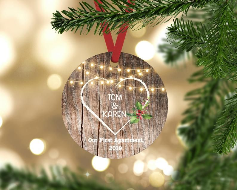 Our First Apartment Christmas Ornaments Our First Christmas Ornament First Christmas In New Home Ornament Personalized Couples Gift In 2020 Our First Christmas Ornament Newlywed Christmas Ornament First Christmas Married