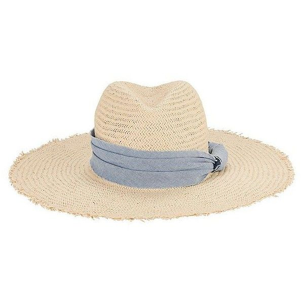 Hat Attack Women S Interchangeable Trims Straw Hat 125 Liked On Polyvore Featuring Accessories Ha Black And White Hats Blue Straw Hat Wide Brim Straw Hat