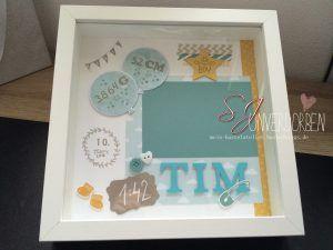 Newborn baby rahmen personalisiertes geschenk zur geburt foto paperlovedesign rahmen - Selbstgemachte bilderrahmen ...