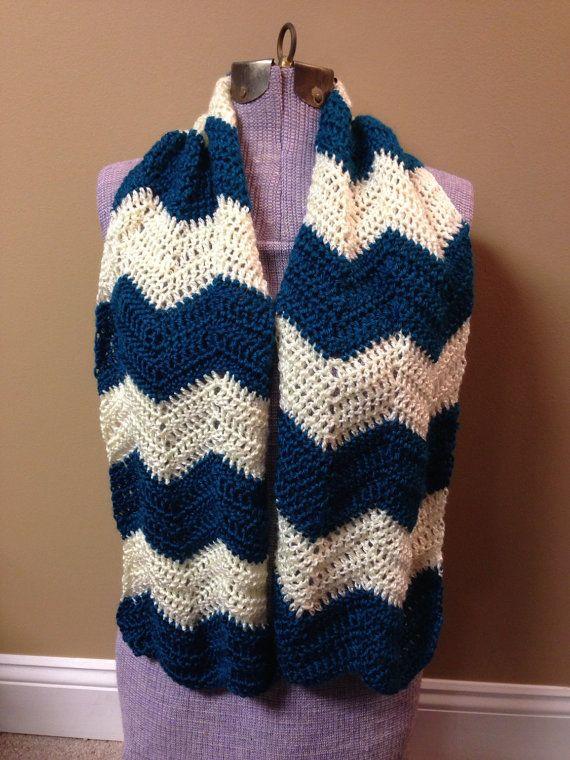 Crochet Scarf Chevron Pattern By Daisymaecrochetshop On Etsy My