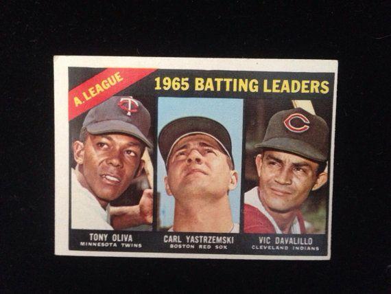 Baseball Card Topps 1966 Batting Leaders sports trading cards