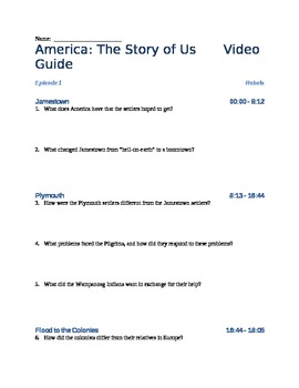 This Is A Video Viewing Guide For The First Episode Of The History