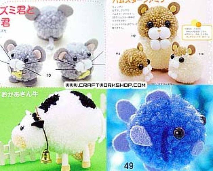 animalitos con pompones - Buscar con Google: