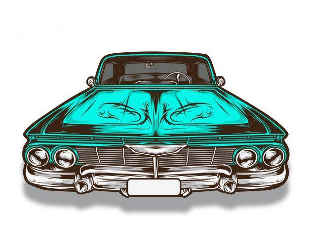 Lowrider Car Vector   Car vector, Lowriders, Vector