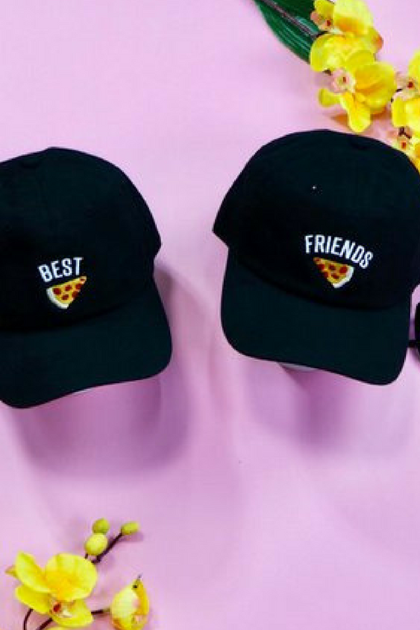 26ced16be3ed2 Grab these simple yet fun and casual baseball hats that shows off just how  much you love your best friend!