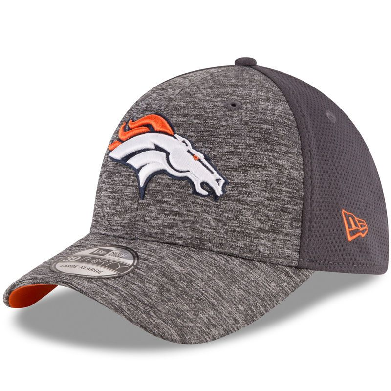 the latest cd66d 6aaca Denver Broncos New Era Shadowed Team 2 39THIRTY Flex Hat - Graphite