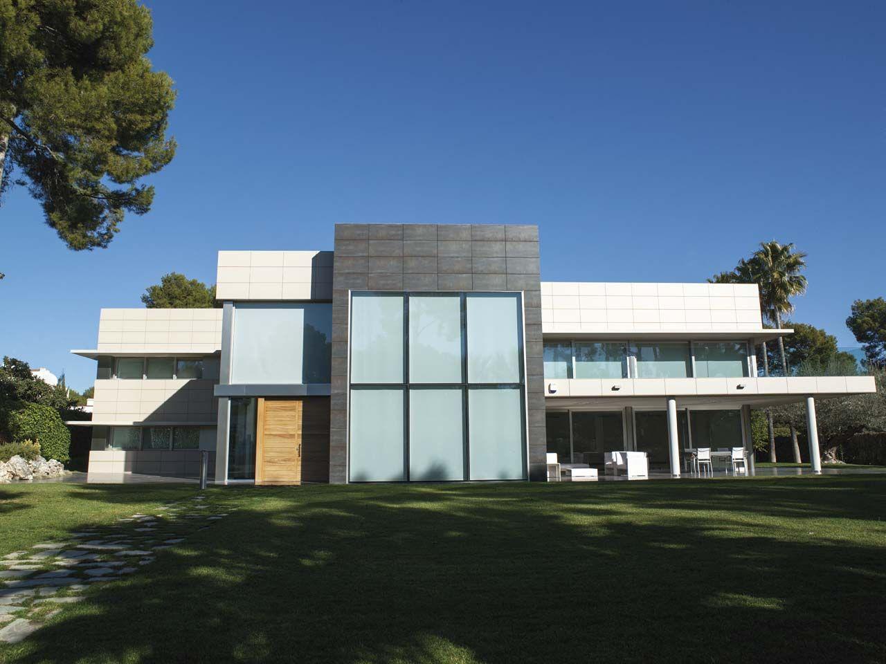casa minimalista historia fachadas cer micas porcelanosa salon de belleza