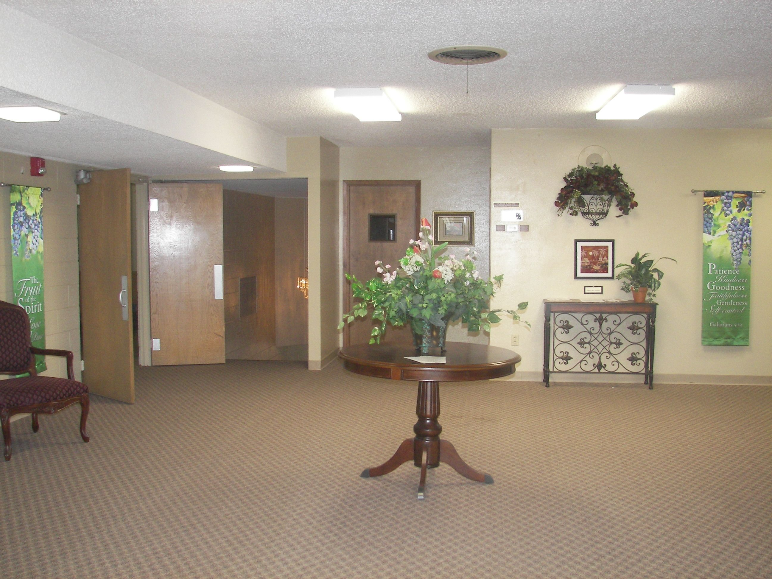 Small Church Foyers | Church Foyer | church decor | Pinterest ...