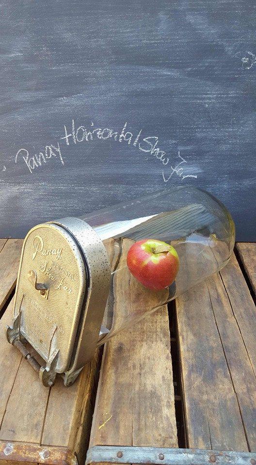 Vintage Panay Horizontal Show Jar, Store Candy Display, Slanted