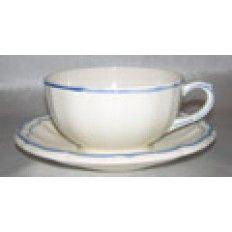 Breakfast  Cup & Saucer, Filets Bleus