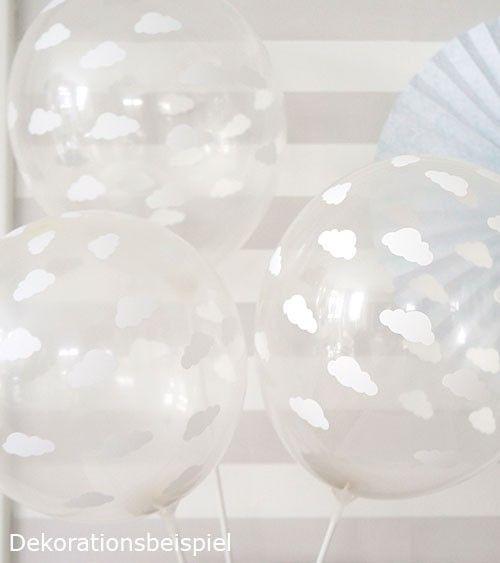 "Luftballons ""Wolken"" kristall 6 Stück Luftballons"