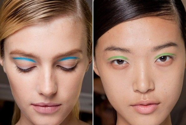 Best Spring 2013 Runway Makeup // blue and green eyeliner at Michael Kors #NYFW