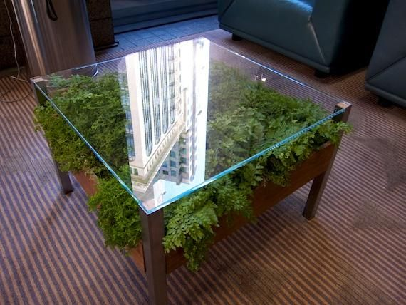 Planter Coffee Tables | Very Cool Coffee Table With A Planter Box Under A  Glass Top