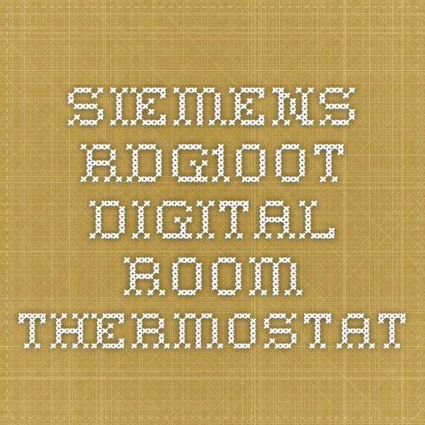 Siemens Rdg100t Digital Room Thermostat Siemens Pinterest
