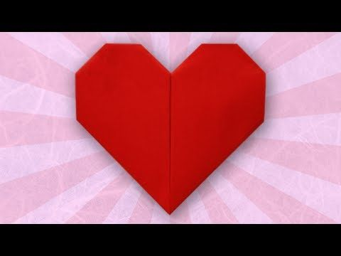 Origami Heart Folding Instructions Youtube Origami To Try