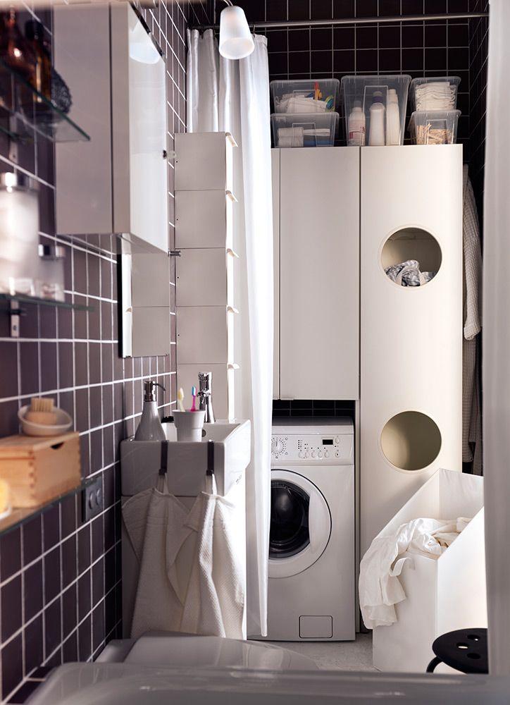 Si tu lavadora es una m s en tu cuarto de ba o aprovecha - Instalar lavadora en bano ...