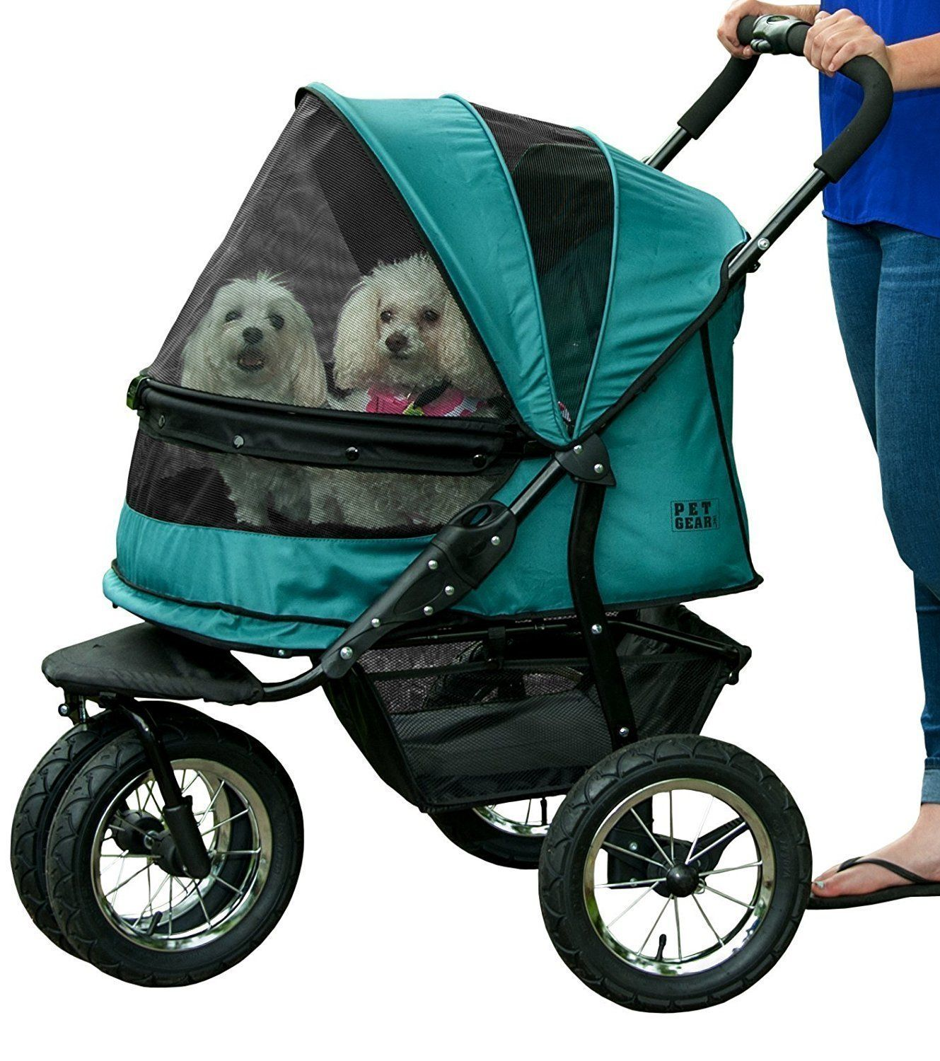 Boysenberry NoZip Double Pet Stroller Pet stroller
