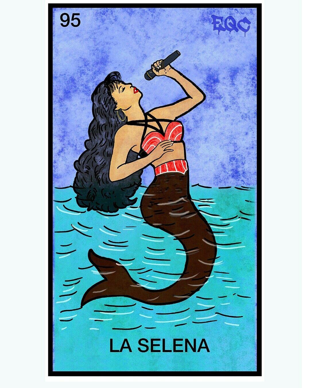 Selena Mexican Art Loteria Cards Latino Art