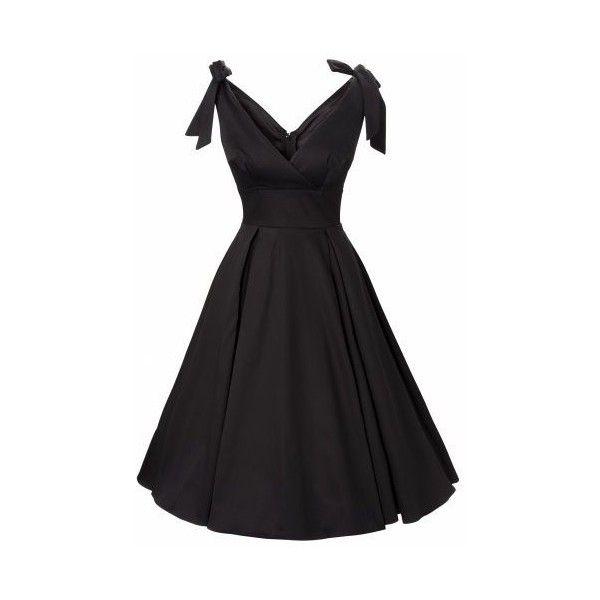 dress in black sateen Art Deco Vintage ❤ liked on Polyvore