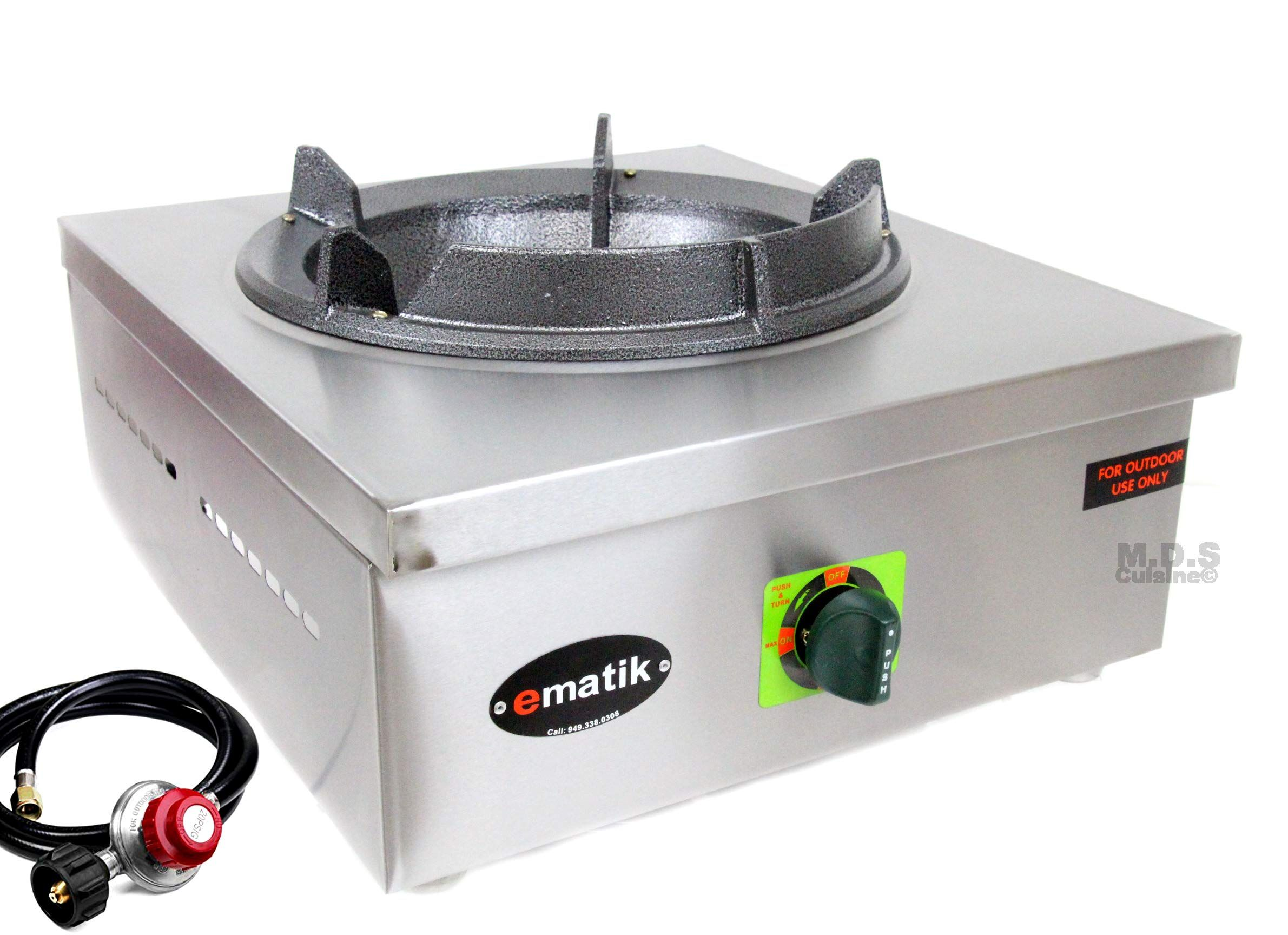 Ematik Burner Countertop High Pressure Stainless Steel Commercial
